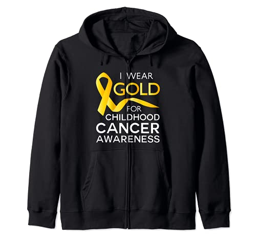 Camiseta Infantil Cancer Awareness Gold for a Child Fight Sudadera con Capucha