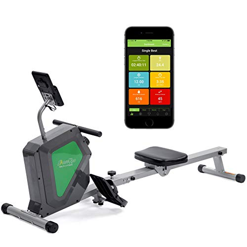 ShareVgo Smart Home Rowing Machine Bluetooth Compact Magnetic Rower with Fitness APP, Max Weight 285lbs Ergometer - SRM2000