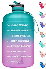 【Motivational Quote & Time Marker】With motivational quote and time marker on it, the water bottle is perfect for helping you stay motivated to drink enough water throughout the day. Featured with transparent appearance helps you check the actual amou...
