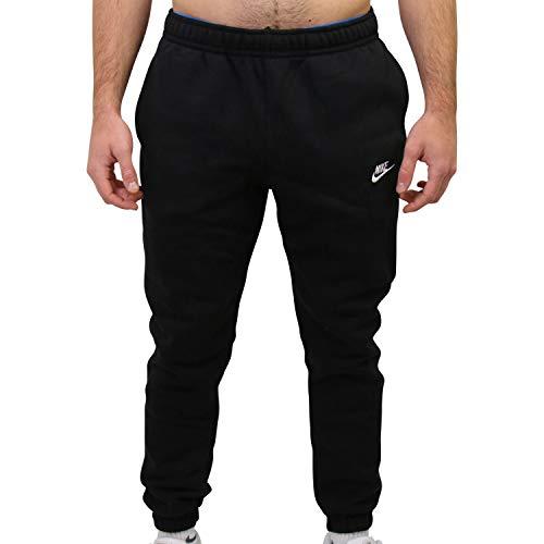 Nike Mens Sportswear Club Fleece Sweatpants, Black/Black/White, M