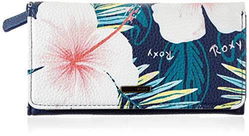 Roxy Womens HAZY DAZE Wallets, Mood Indigo Grange Fleur, Medium
