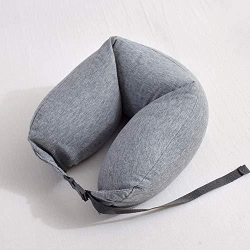 sknonr Almohada de la Cintura, de Espuma de Memoria Almohada de Viaje, Espuma de partículas Almohada for Cuello (Color : Gray)