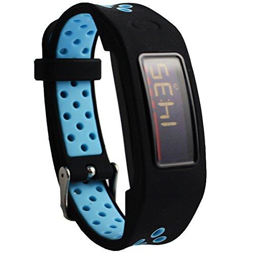 Cinturino Intercambiabile per Garmin vivofit 2 Cinturini di Ricambio Braccialetto Sostituzione Band Accessori (Black Blue)