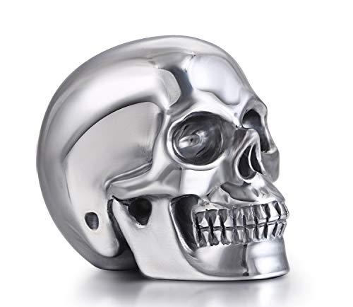 Skullis 2.0' Tera-Hertz Crystal Skull, Hand Carved Gemstone Fine Art Sculpture, Reiki Healing Stone Statue.