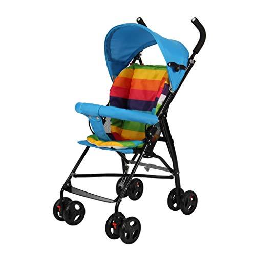 Gute Qualität Kinderwagen Buggys Kinderwagen, leicht tragbar, einfachen Regenschirm Falten, Kind Baby Mini Kind Trolley Baby Standardkinderwagen (Color : A)