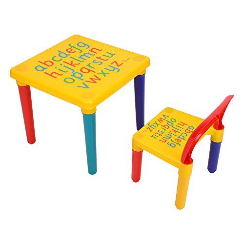 Haofy Juego de Mesa y Silla para niños, Juego de Mesa de Madera para niños con 2 sillas, Morado, Ideal para Artes, Manualidades, merienda, Tarea, educación en el hogar