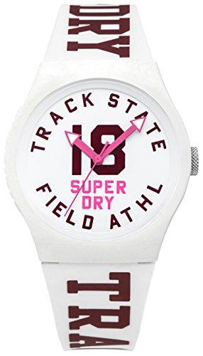 Superdry Unisex Kinder Analog Quarz Uhr mit Silikon Armband SYL182VW