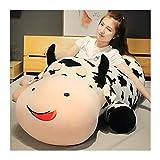 JINSUO Oreiller en peluche de vache allongée de 80 à 120 cm - Taille géante - En forme de vache - Pour enfants - Cadeau idéal - Hauteur : 120 cm
