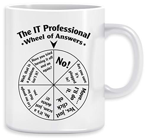 The IT Professional Wheel of Answers Kaffeebecher Becher Tassen Ceramic Mug Cup