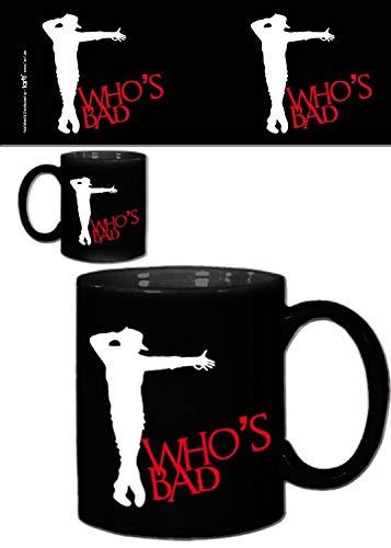 1art1 Musik, King of Pop, Who's Bad Moonwalk Foto-Tasse Kaffeetasse (9x8 cm) Inklusive 1x Überraschungs-Sticker
