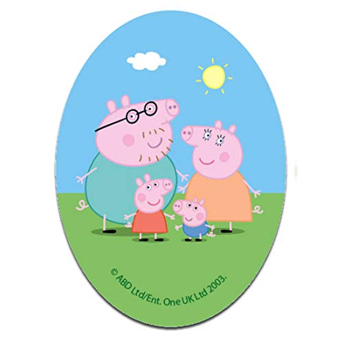 Parches - Peppa Pig oval family pig - colorido - 11 x 8 cm - Entertainment One © termoadhesivos bordados aplique para ropa