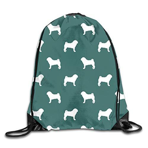 OMGiHome Pugs Sonnenschein im kühlen kreisförmigen Fitness-Strahl-Rucksack, Sportrucksack, Schultasche