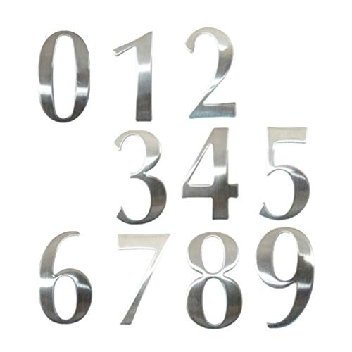 Numeros casa Exterior 0-9 Números Casa Moderna de Acero Inoxidable Número de...