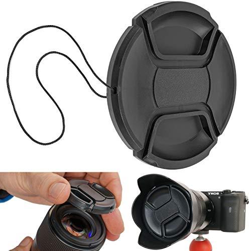 Objektivdeckel, Ø 55 mm Durchmesser, Snap On Schutzdeckel, kompatibel mit Nikon, Canon, Sony, Sigma, Tamron, Olympus, Fujifilm, Universal Ersatzkappe, Kameradeckel Linsenschutz, Objektivschutzdeckel