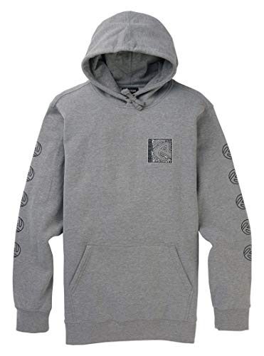 Burton Men's Airbuckle Pullover,  Gray Heather,  Large