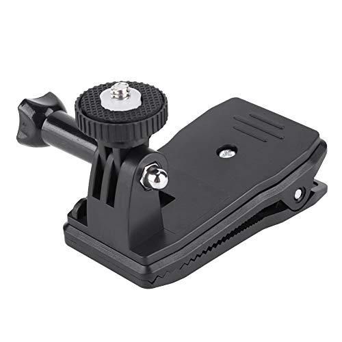 Topiky Rucksack-Cliphalterung, 360-Grad-Rotationserweiterung Rucksack-Klemmhalterung Ständerhalter mit 1/4 Zoll Schraube für Insta360 ONE X/EVO-Kamera