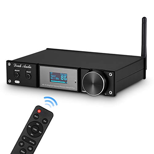 Amplificador de potencia HiFi estéreo Bluetooth 5.0, subwoofer, amplificador de audio USB / Opt / Coax 240 W