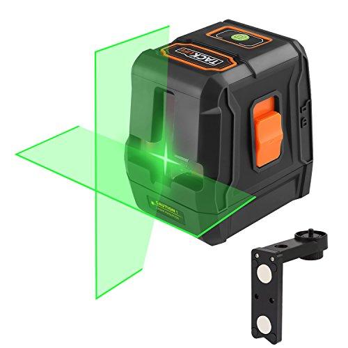Tacklife SC-L07G Laser-Nivelliergerät, Grün, klassisch, Kreuz, 30m/Laser Grün und hell/Weitwinkel von 110°/abschließbar/magnetisches Stativ, rechteckig/Loch für Schrauben, 0,6 cm (1/4 Zoll)
