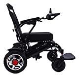 New Model 2020 Fold & Travel Lightweight Motorized Electric Power Wheelchair Scooter, Aviation Travel Safe Electric Wheelchair Heavy Duty Power Wheelchair (19 Inch Seat Black)