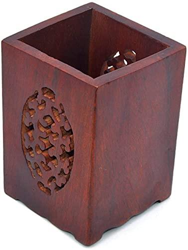 BERTY·PUYI Bolígrafo De Madera Soporte para Lápices Soporte para Lápices De Madera Multiusos Maceta Organizador De Escritorio Caja De Almacenamiento Soporte para Bolígrafos