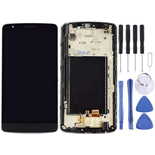 ASAMOAH Pantalla LCD de reemplazo de teléfono Celular Montaje Completo de Pantalla LCD y digitalizador con Marco para LG G3 Stylus / D690