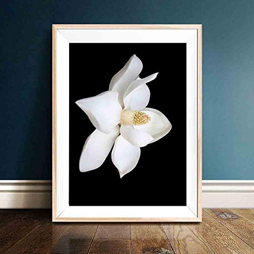 GUDOJK decoratief schilderij woonkamer blouse zwart bloemen schilden en afdrukken canvas kunst muur schilderij voor de woonkamer 50x70cm(20x28inch)