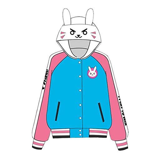 Aufsichtsrolle DVA Hoodie, DVA Druck Hoodie, 3D-Anime-T-Shirt Zipper-Jacke (Color : Thin, Size : M)