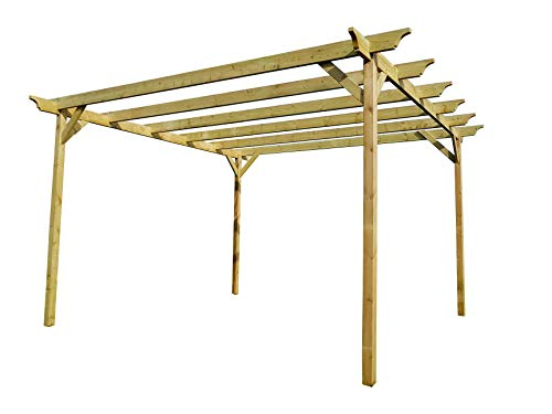 Champion Wooden Garden Pergola Kit - Exclusive Pergola Range - Largest on Amazon (42 Different Sizes) (2.4m x 3.6m 4 posts, Light Green (Natural))