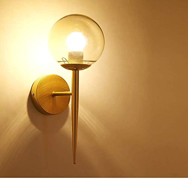GLP Moderne Minimalistische Led Nachttischlampe Nordic Persnlichkeit Kreative Treppe Gang Korridor Schlafzimmer Wandleuchte Wohnzimmer Wandleuchte Holz Farbe (Farbe   Gold)
