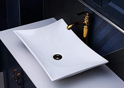Lavabo de cerámica, Lavabo sobre encimera, lavabo ovalada Lavamanos Cuarto de Baño Diamant 56,5x36,5