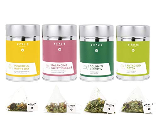 Vitalis - Kräutertee Set 4x 36g - Probier Tee set von Vitalis Dr. Joseph - Ideales Tee Geschenk