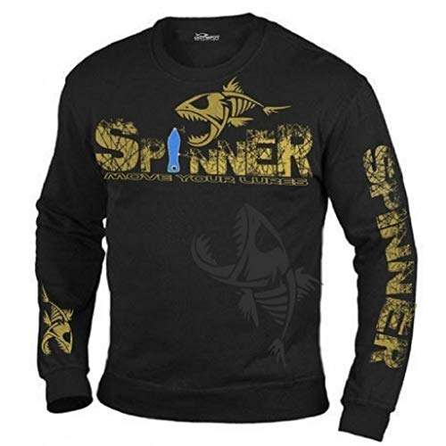 HOTSPOT DESIGN Sweater Spinner-Move Your Lures, Gr. L, Für Spinnfischer, F-SPINL