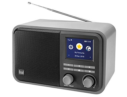 Dual CR 510 - Smartradio (DAB+/UKW/Internet) im Holzgehäuse mit Bluetooth und Akku