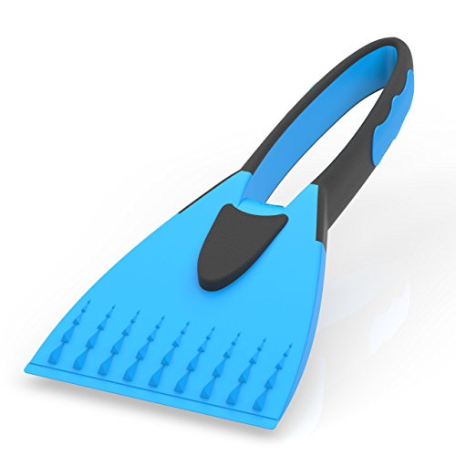 AUPROTEC Grattoir à Glace 2K avec poignée Douce antidérapante Gratte-Givre raclette Pare Brise Outil d'hiver - Couleur Bleu