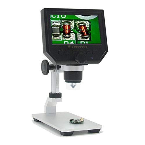 G600 HD Mobile Phone Repair Microscope 4.3 Inch 600X Digital Electron Microscope (Black)