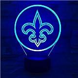 SHJDY Saints De La Nouvelle-Orléans-Petite Veilleuse,Lumière Du Sommeil 3D,Flash...