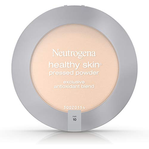Neutrogena Healthy Skin Pressed Makeup Powder Compact with Antioxidants & Pro Vitamin B5, Evens Skin Tone, Minimizes Shine & Conditions Skin, Fair 10,.34 oz