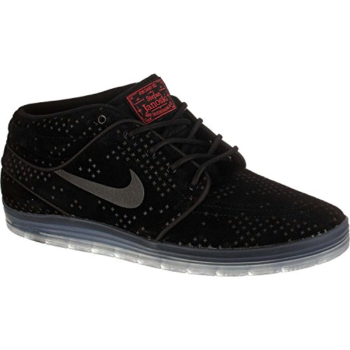 Nike Lunar Stefan Janoski Mid Flash, Zapatillas de Skateboarding para Hombre, Negro (Black/Black-Clear), 44 EU
