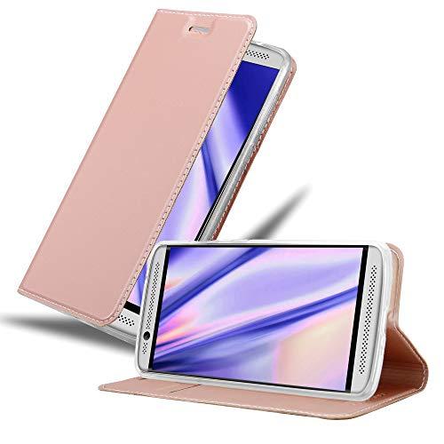 Cadorabo Hülle für ZTE Axon 7 Mini in Classy ROSÉ Gold - Handyhülle mit Magnetverschluss, Standfunktion & Kartenfach - Hülle Cover Schutzhülle Etui Tasche Book Klapp Style