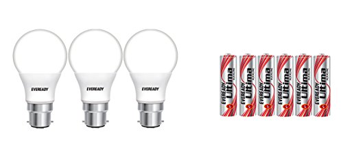 Eveready Base B22D 9-Watt LED Bulb (Pack of 3, Cool Day Light)...