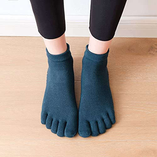SLATIOM 2021 Mujeres Calcetines de Yoga Antideslizante Cinco Dedo Dedo Dedo algodón Calcetines Damas Ballet Danza rápida Elasticidad Aptitud Aptitud Transpirable Calcetines
