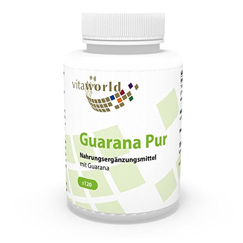 Vita World Guarana puro 500mg 120 Capsule Made in Germany