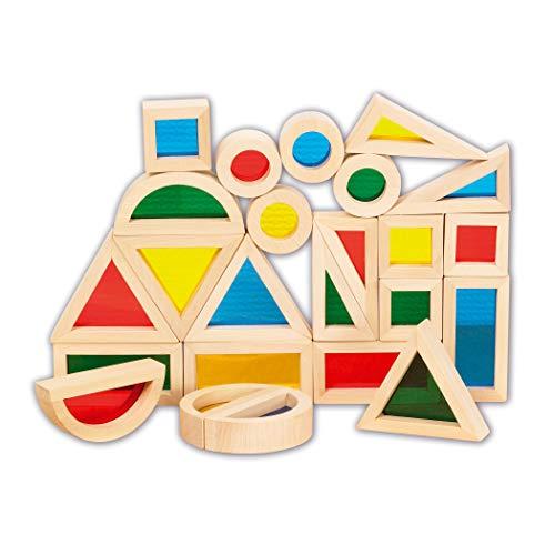 TickiT 73275 Regenbogen-Blockset, 24 Teile, Regenbogen