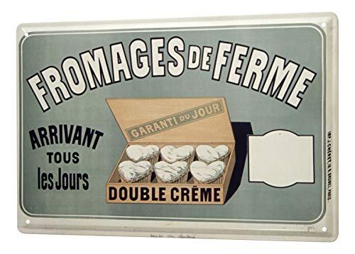 LEotiE SINCE 2004 Plaque en Métal Métallique Poster Mural tin Sign Cuisine Fromage France