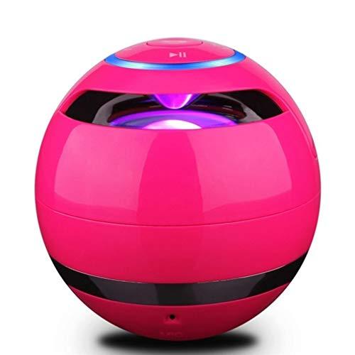 Draadloze luidspreker kleuren LED-verlichting draadloze draagbare subwoofer met microfoon FM rood /