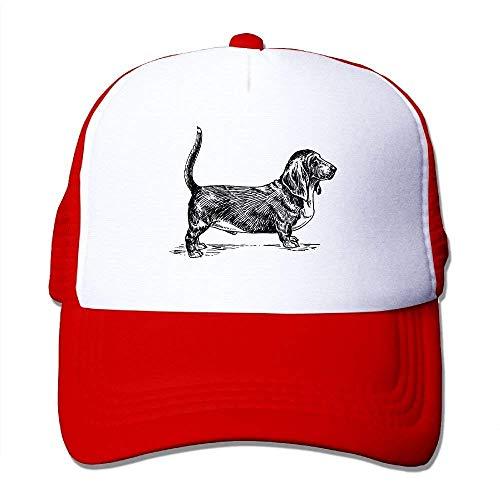 Wdskbg Dachshund Painting Adjustable Sports Mesh Baseball Caps Trucker Cap Sun Hats Design31