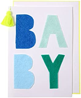 メリメリ グリーティングカード (01/BABY/BLUE) MeriMeri [並行輸入品]