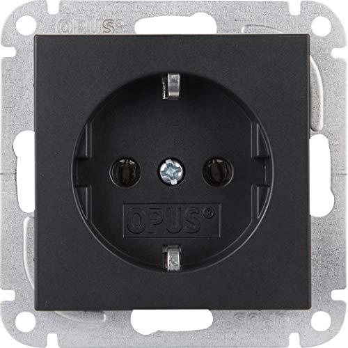 OPUS® 55 Schutzkontakt-Steckdose mit Steckklemmen Farbe anthrazit - seidenglanz