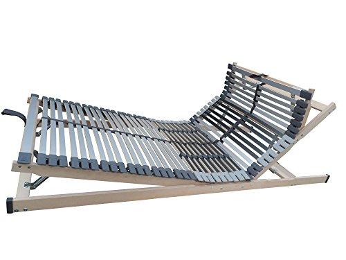 MediBalance 7 Zonen Lattenrost, 44 Federholzleisten, Mittelgurt, Verstellbarer Sitz- und Schlafkomfortrahmen 100x200 cm