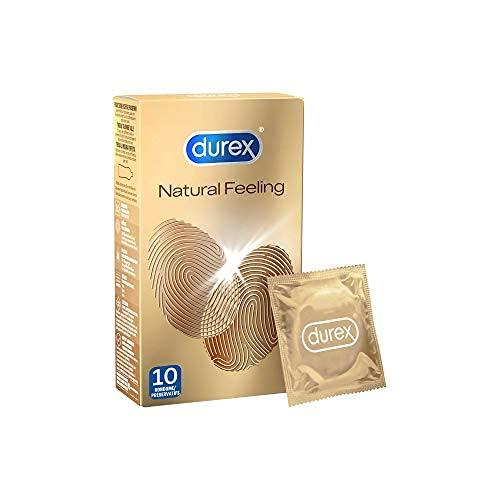 Durex Natural Feeling Kondome, natürliches Haut an Haut Gefühl, latexfrei, 10er Pack, 10 Stück